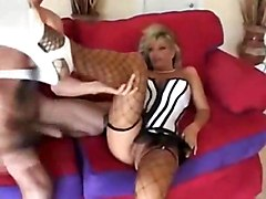 kristal summers milf blonde big tits doggystyle blowjob facial riding couch fishnets