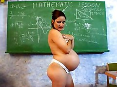 Masturbation Brunette Caucasian Masturbation Pregnant School Shaved Solo Girl Toys Vaginal Masturbation 