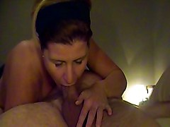 Blowjob Amateur MILF Amateur Big Cock Blowjob Brunette Couple Deepthroat Gagging MILF Oral Sex Swallow