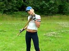 Public Masturbation Blonde Blonde Caucasian Masturbation Public Shaved Solo Girl Vaginal Masturbation