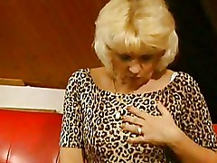 Granny Pantyhose blonde blowjob older