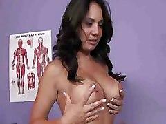 Massage hot brunette lingerie
