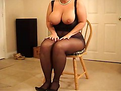 Big Boobs Foot Fetish Stockings