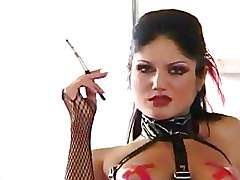 FFM Latex black fishnet threesome fucking