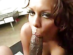 Interracial Milf blowjob