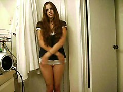 Girl Strips In The Bathroom