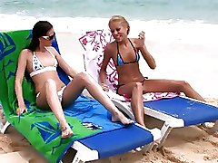 Beach Lesbian Strapon