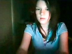 teen brunette amateur solo teasing realamateur softcore