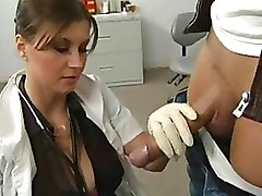 Beauty In Doctors Uniform Gives Her Patient A Blowjob