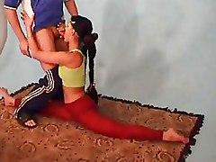 Flexible Teen amateur suck dick tits