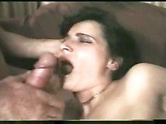 anal stockings cumshot hardcore gaping milf brunette rough mature gangbang