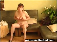  mature hairy toy dildo solo brunette big tits