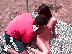 Asian Outdoor Pussy blowjob oral sex oriental