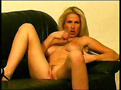 Busty Slut Lolling On Couch