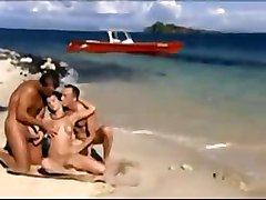 Beach Double Penetration Threesomes