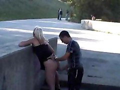 blonde public sex tits ass fuck blowjob