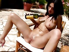 Insertions Outdoor brunette finger finsting tits boobs
