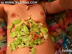 teen blonde food young sofa smalltits sologirl solo topless teasing fetish softcore vegetable hat