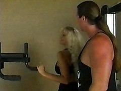 Blonde Vintage Blonde Blowjob Caucasian Couple Cum Shot Gym Licking Vagina Oral Sex Vaginal Sex Vintage Julia Ann