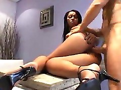 Ebony High Heels Interracial