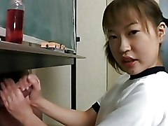 Asian Handjobs Japanese handjob schoolgirl