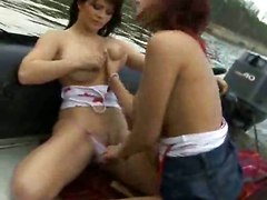 big tits natural european outdoor red head lesbian toys dildo brunette pussylicking fingering kissing public reality