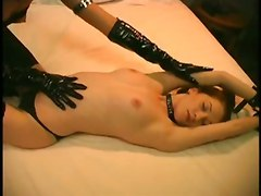 stockings lesbian oiled brunette fingering smalltits goth gothic