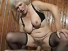 Black Granny Moms and Boys Riding Stockings