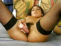 Hairy Stockings Toys softcore solo wife