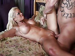 Blonde Blonde Blowjob Caucasian Couple Cum Shot High Heels Licking Vagina Oral Sex Vaginal Sex Rhylee Richards