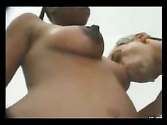 black interracial and ebony facials