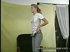 blow job young blonde casting french fuck