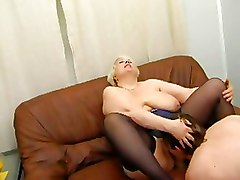 Fat Granny big tits stockings