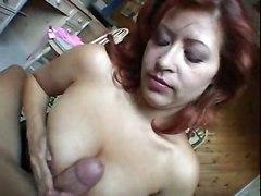 asian milf big tits blowjob balls licking tits fuck
