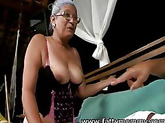 Fat Granny Interracial glasses granny blowjob