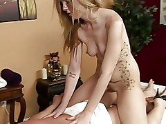 Blondes Massage Tattoo blonde blowjob cumshot handjob skinny tatoo
