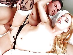 Blonde Big Ass Blonde Blowjob Caucasian Couple Cum Shot Deepthroat Gagging High Heels Oral Sex Pornstar Stockings Vaginal Sex Lexi Belle