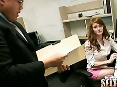 Blowjobs Fucking Hardcore Office Redheads Secretaries Sucking cumshot oral redhead secretary blowjob swallowing