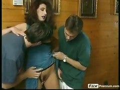 gangbang euro german brunette ass fuck dp cumshots anal