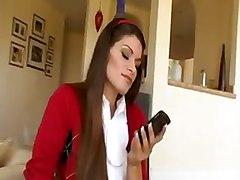 busty teen schoolgirl brunette cumshot facial hardcore