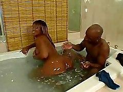Bathroom Chubby Ebony Milf
