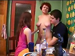 Mom  Son  Daughter  Dad Having Sex