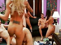 Group Blowjob Group Sex Licking Vagina Oral Sex Tattoos Vaginal Sex Eva Karera Raylene Sienna West Sophia Lomeli Stacey