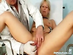 gyno clinic pussy exam mature old doctor milf
