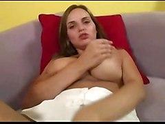 cumshot hardcore blowjob brunette shaved titjob bigtits POV bigass pussyfucking