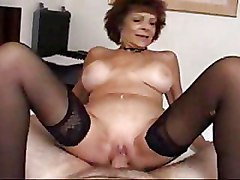 Bedroom Blowjobs Granny Stockings
