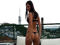 Blowjob Lingerie POV Blowjob Brunette Couple Handjob Lingerie Masturbation Oral Sex Outdoor POV Kari Milla