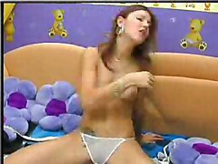 Amateur Masturbation Amateur Brunette Caucasian Masturbation Shaved Solo Girl Vaginal Masturbation Webcam