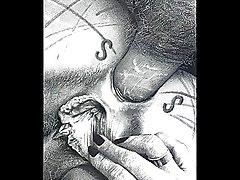 BDSM Art Cartoons Drawings