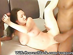 Interracial Threesome mmf wife